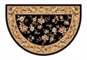 Picture of Black & Beige Floral Kashan Hearth Rug