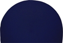 Picture of Half-Round Braided Polypropylene Hearth Rug - Navy Solid Color Braided