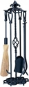Picture of 5 Piece Black Heavy Wrought Iron Tool Set