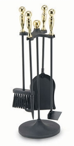 Picture of 5 Piece Polished Brass and Black Mini Tool Set-Ball Handles