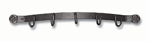 """Picture of 19"""" wide Curved Tool Set Bracket with 5 Hooks."""