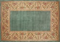 Picture of 30'' x 50'' Ruby Series Wool Hearth Rug Slate Blue With Floral Border