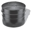 "Picture of 6"" Dura-Vent 6689 - Snap-Lock Adapter Single Wall Black Pipe"