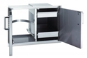 Picture of Fire Magic 43930S-12 20 x 30 Double Access Doors With Dual Drawers and Tank/Trash Tray