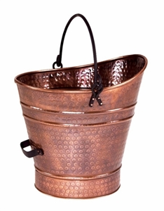 Picture of Antique Copper Finish Ash / Coal Hod / Pellet Bucket - Small