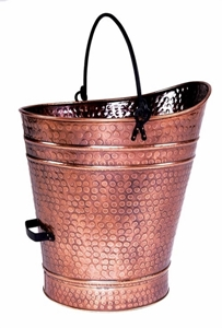 Picture of Antique Copper Finish Ash / Coal Hod / Pellet Bucket - Large