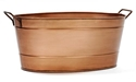 Picture of Copper Finish Oval Tub w/Wrought Iron Handles