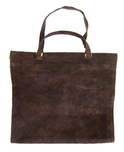 Picture of Dark Brown Suede Log Carrier