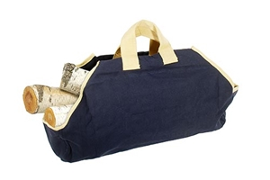 Picture of Canvas Log Carrier - Navy/Tan