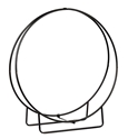 "Picture of Wrought Iron Wood Hoop - 48""H (Knocked Down)"