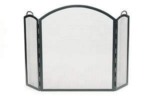 Picture of Arched 3-Fold Screen - Graphite