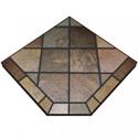 """Picture of Asian Slate Single Cut Corner Stove Board, 48"""" x 48"""""""