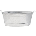 Picture of Large Oval Galvanized Steel Tub