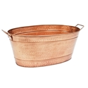 Picture of Lage Oval Hammered Copper Plated Tub